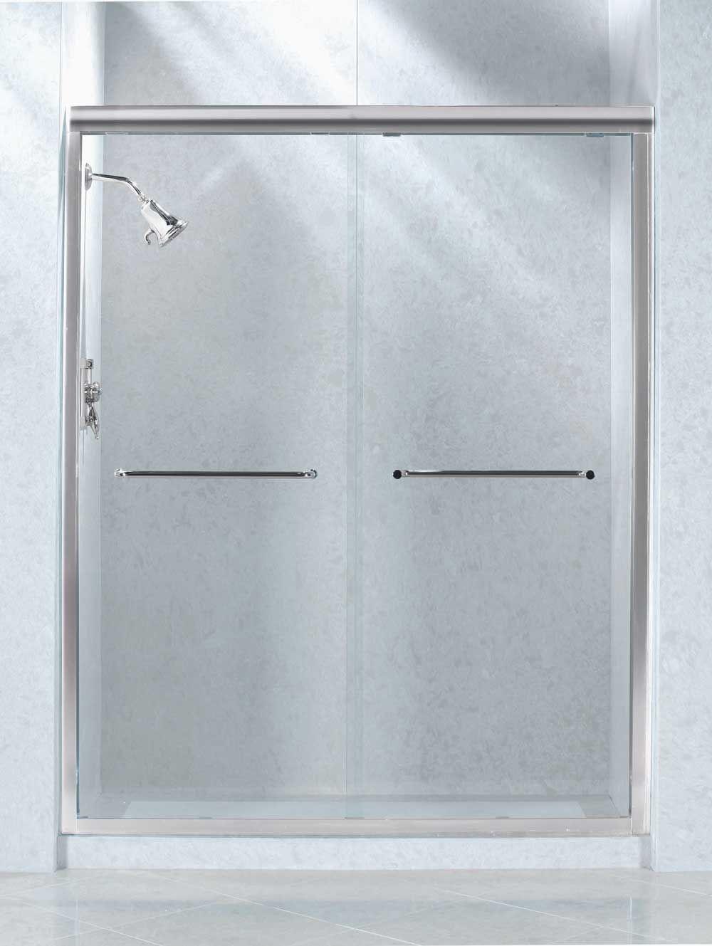 Install Bypass Door Hardware for Shower - http://decor.littlecatgut ...