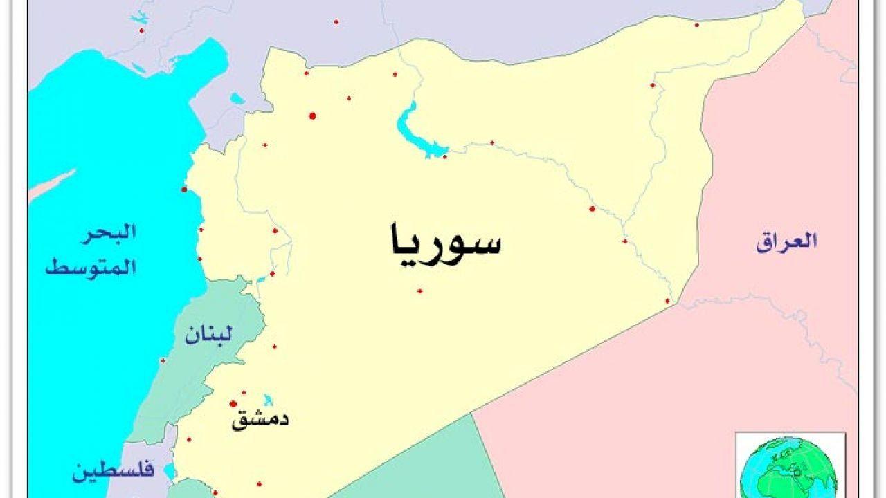 أين تقع دمشق Damascus Map