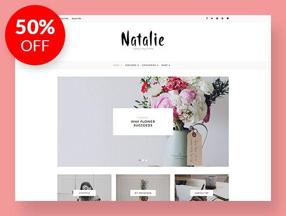 Natalie - un Blog y tienda temática - responsiva WordPress Blog ...