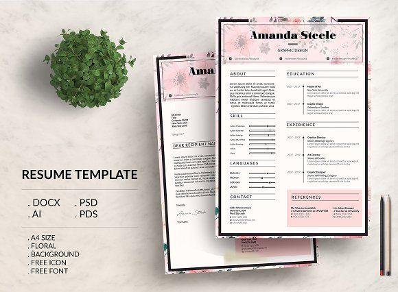 Floral Cv Resume Template N Resume Template Cv Resume Template Cv Template