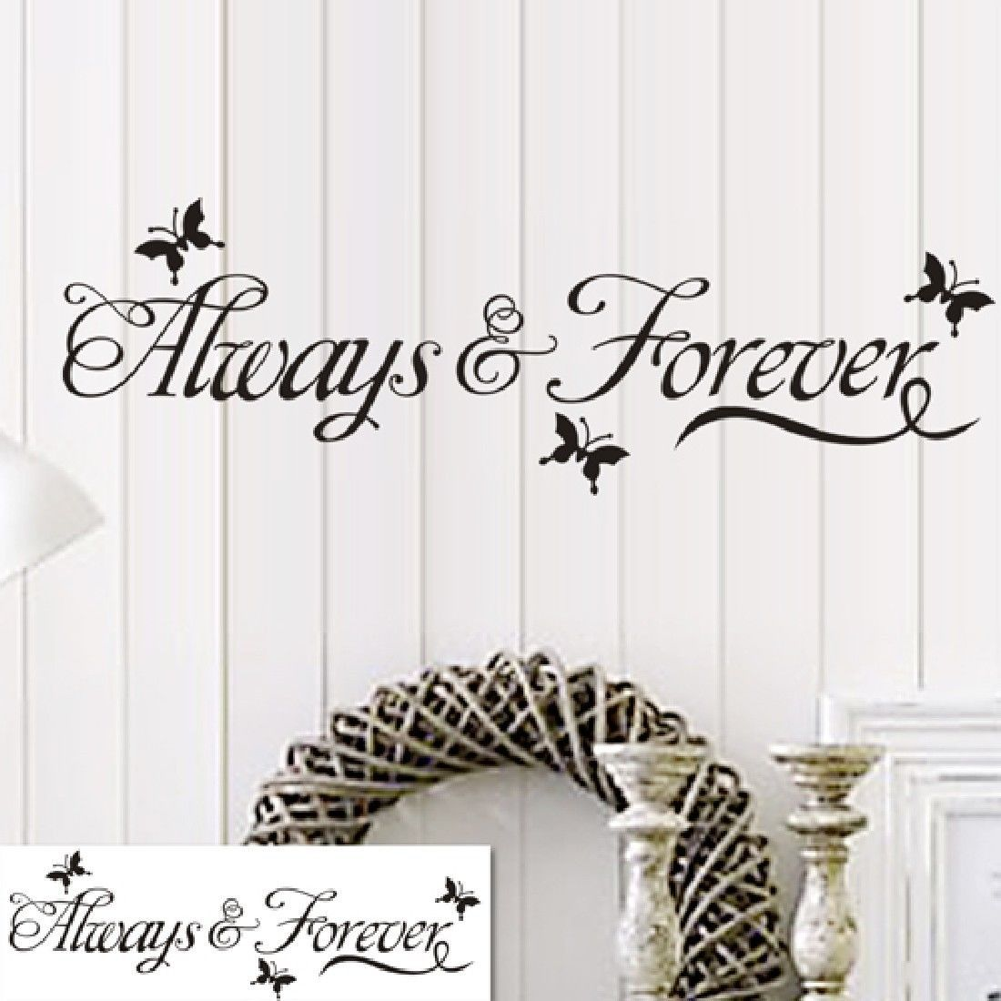 English butterfly proverbs Removable Vinyl Decal Mural Home Decor Wall Sticker