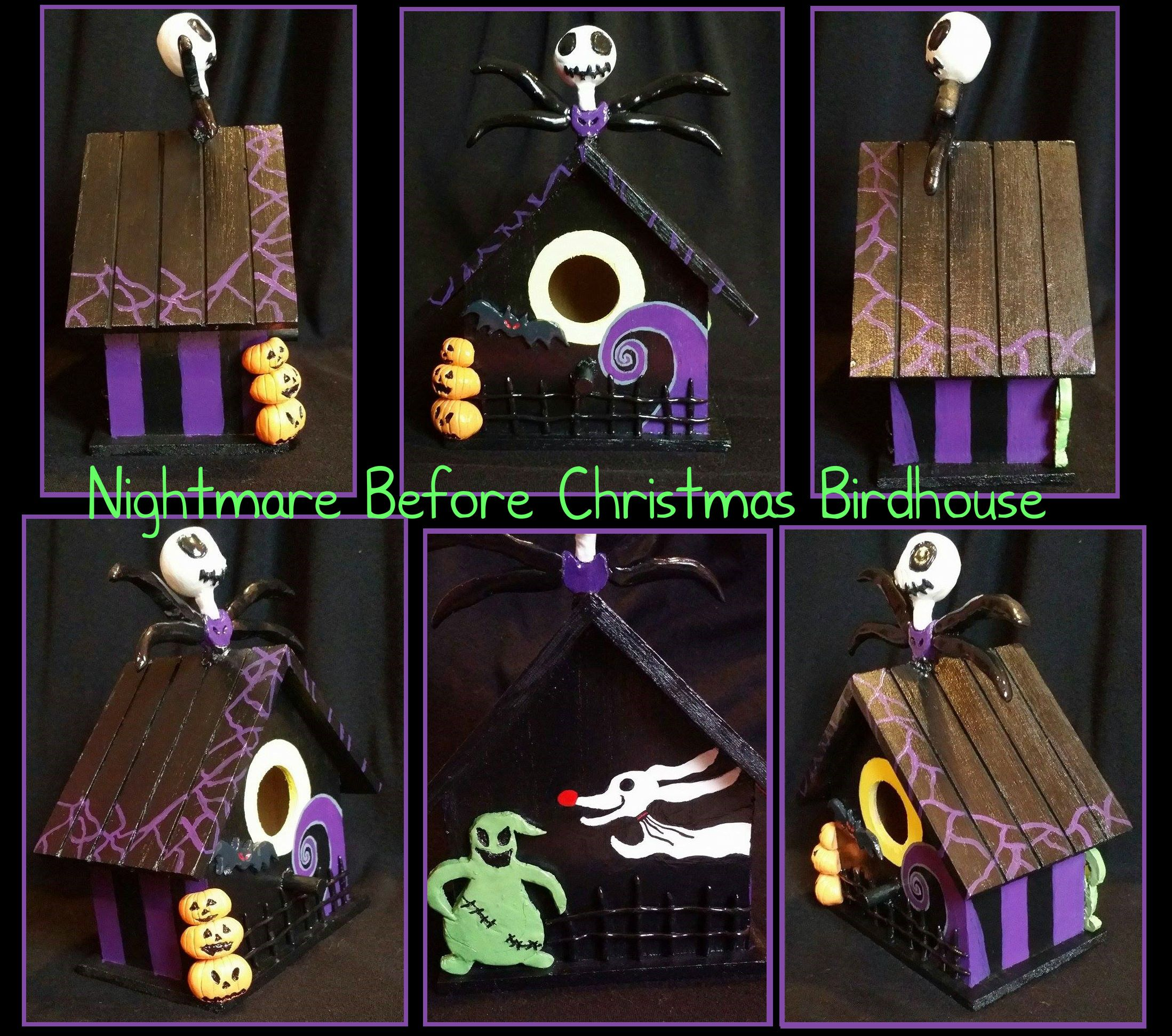 Nightmare Before Christmas Hand Painted Selling For 50$ Birdhouse All