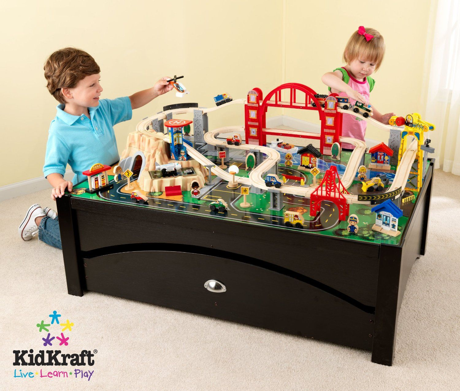 Check out the KidKraft 17935 Metropolis Train Table and Set  sc 1 st  Pinterest & https://checkthis.com/nepw | Best Children\u0027s Train Sets Reviews ...