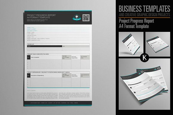 Project Progress Report A4 Format A4, Adobe indesign and Adobe