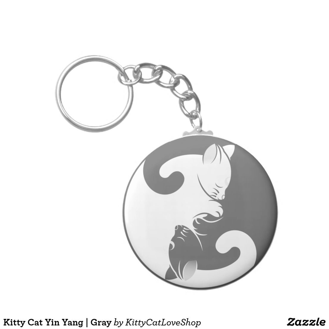 Kitty cat yin yang gray kitty cat love shop pinterest kitty