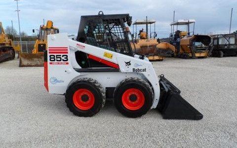 bobcat 853 853h skid steer loader service repair workshop manual instant  download