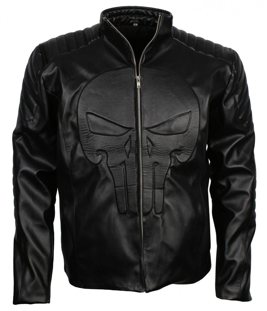 Punisher Men S Black Faux Leather Jacket Us Leather Mart Black Faux Leather Jacket Leather Jacket Faux Leather Jackets [ 1200 x 1028 Pixel ]