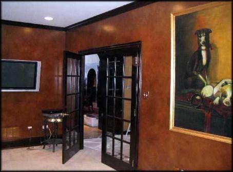 Leather Look Office Walls Faux Finishing Scranton Pa