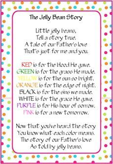 Easter ideas including the jelly bean story great little treat easter ideas including the jelly bean story great little treat to give cousins negle Image collections