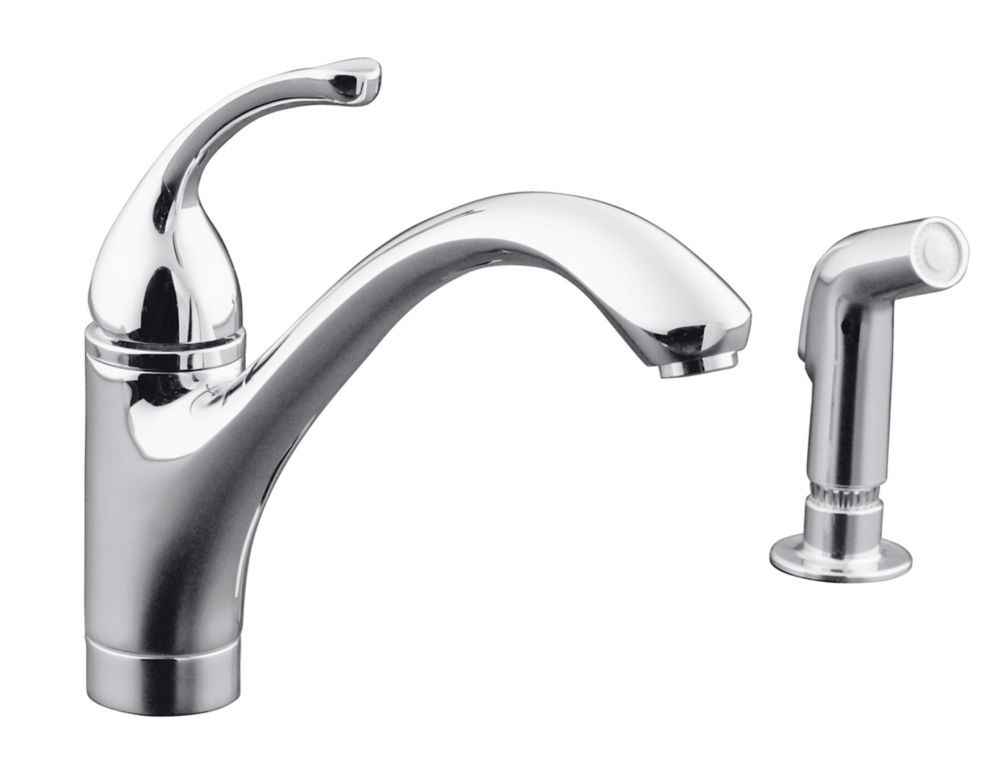 Forte Single Control Kitchen Sink Faucet With Sidespray