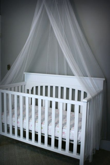 Add A Mosquito Net Over Baby S Crib Canopy Over Crib Cribs