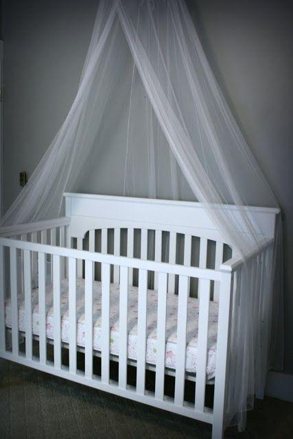 Add a mosquito net over babyu0027s crib & Add a mosquito net over babyu0027s crib | Baby | Pinterest | Crib ...