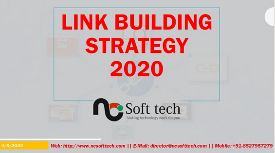 Link Building Strategy 2020 NCSofttech in 2020 Link