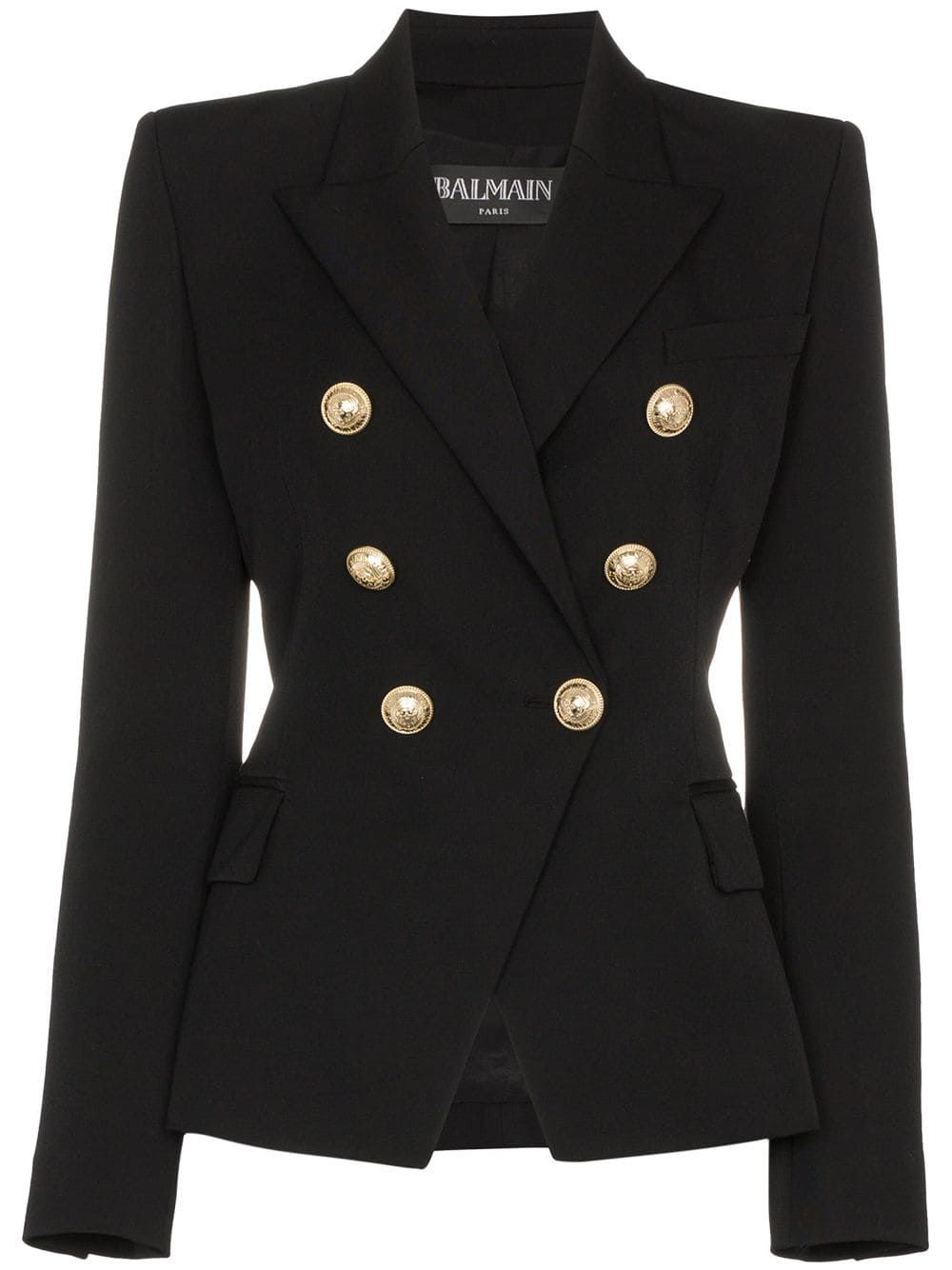 Balmain double breasted blazer Black | Balmain blazer