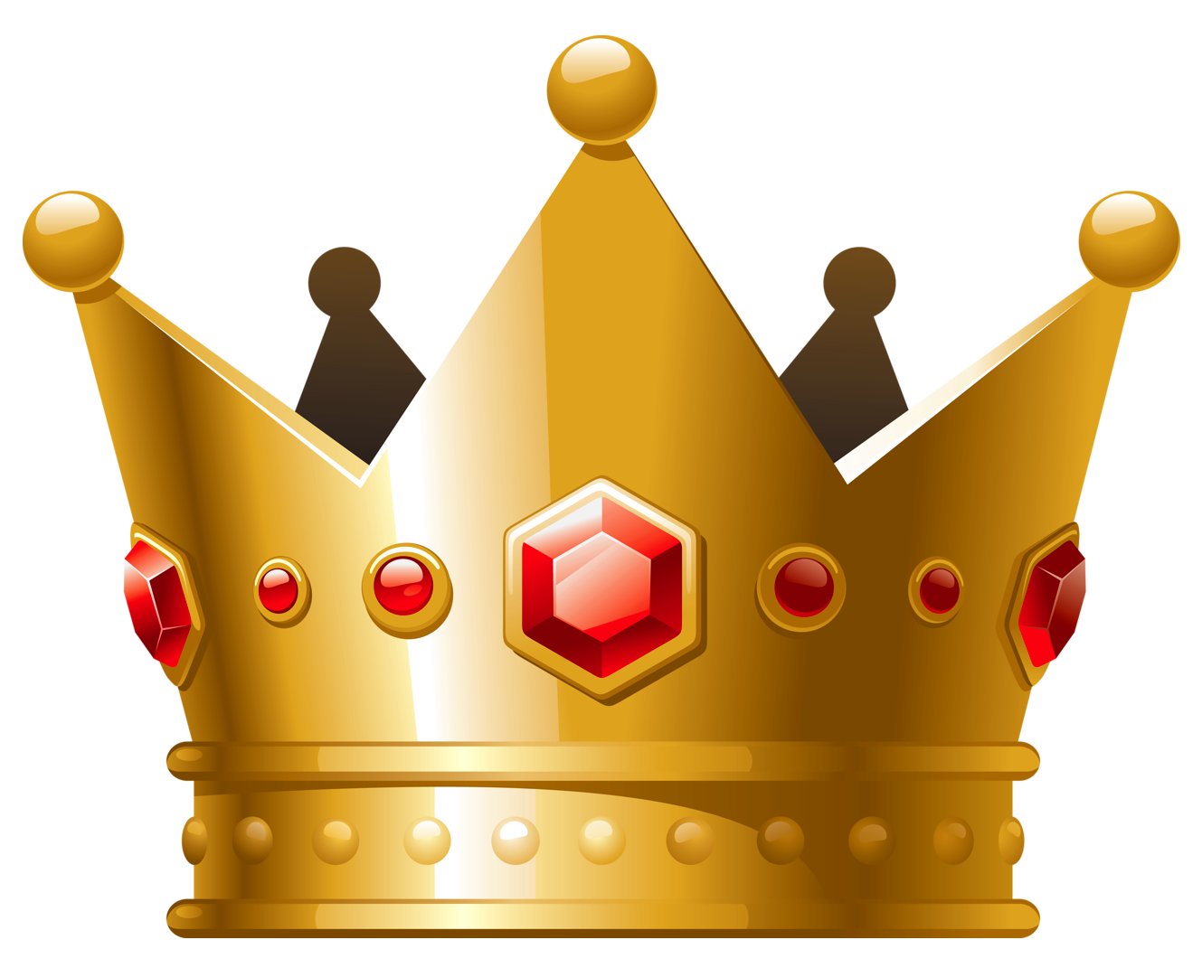 Gold Crown with Red Diamonds PNG Clipart | Princess ...