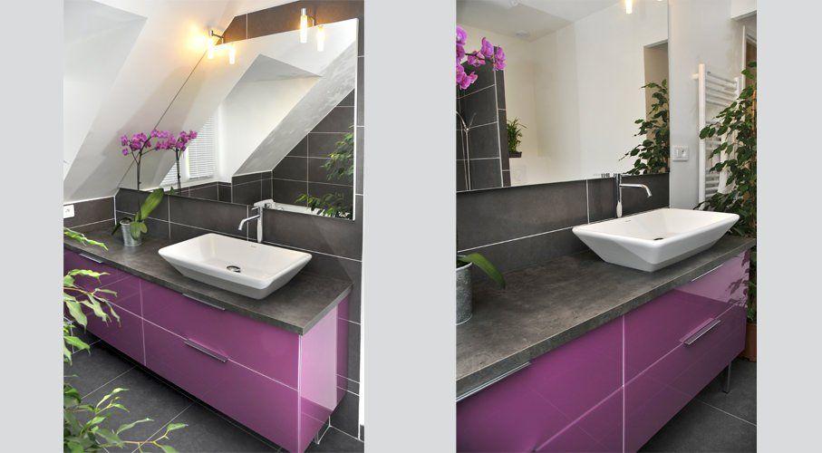 meuble sur mesure avec miroir sous pente fa ade verre deco pinterest meubles sur mesure. Black Bedroom Furniture Sets. Home Design Ideas