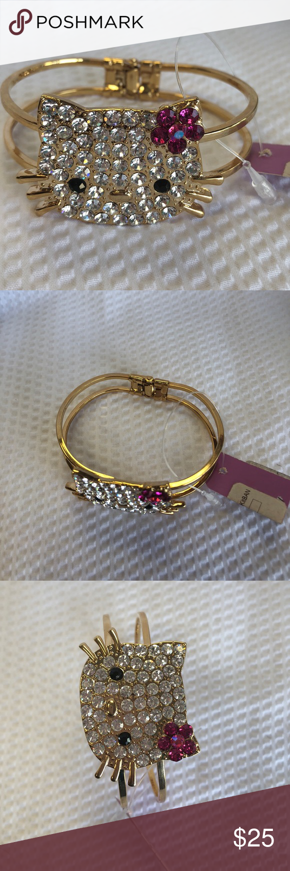 Hello Kitty Hinged Bracelet/Gold Boutique | Hello kitty, Kitty and ...