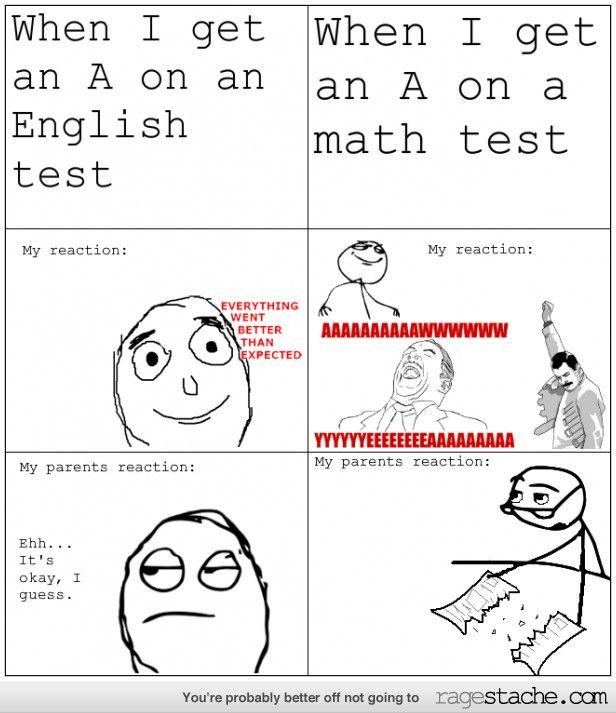 English vs. Math tests