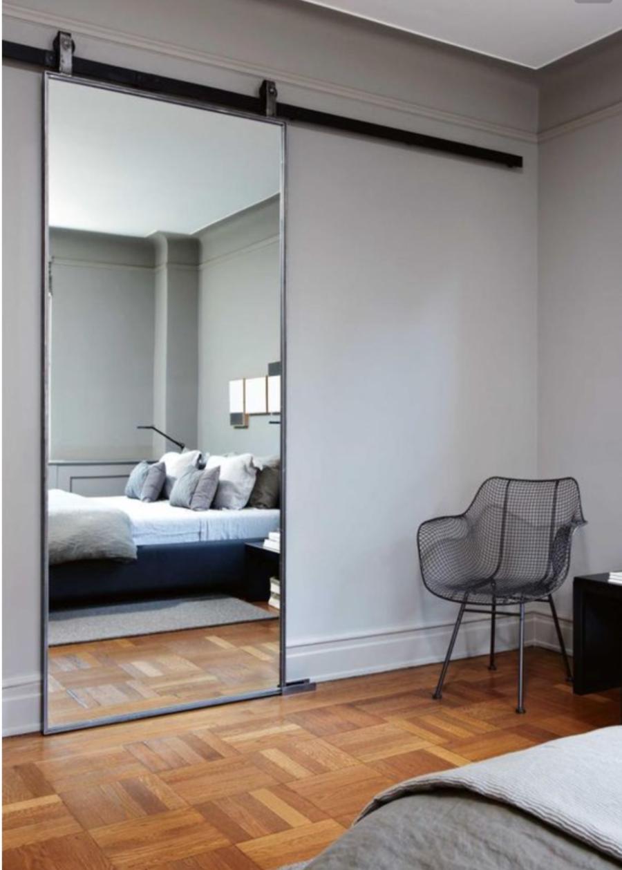 Mirrored Bedroom Barn Door 900x1259 Bedroom Mirror Designs That Reflect Personality Bedroom Design Mirror Wall Bedroom Bedroom Barn Door