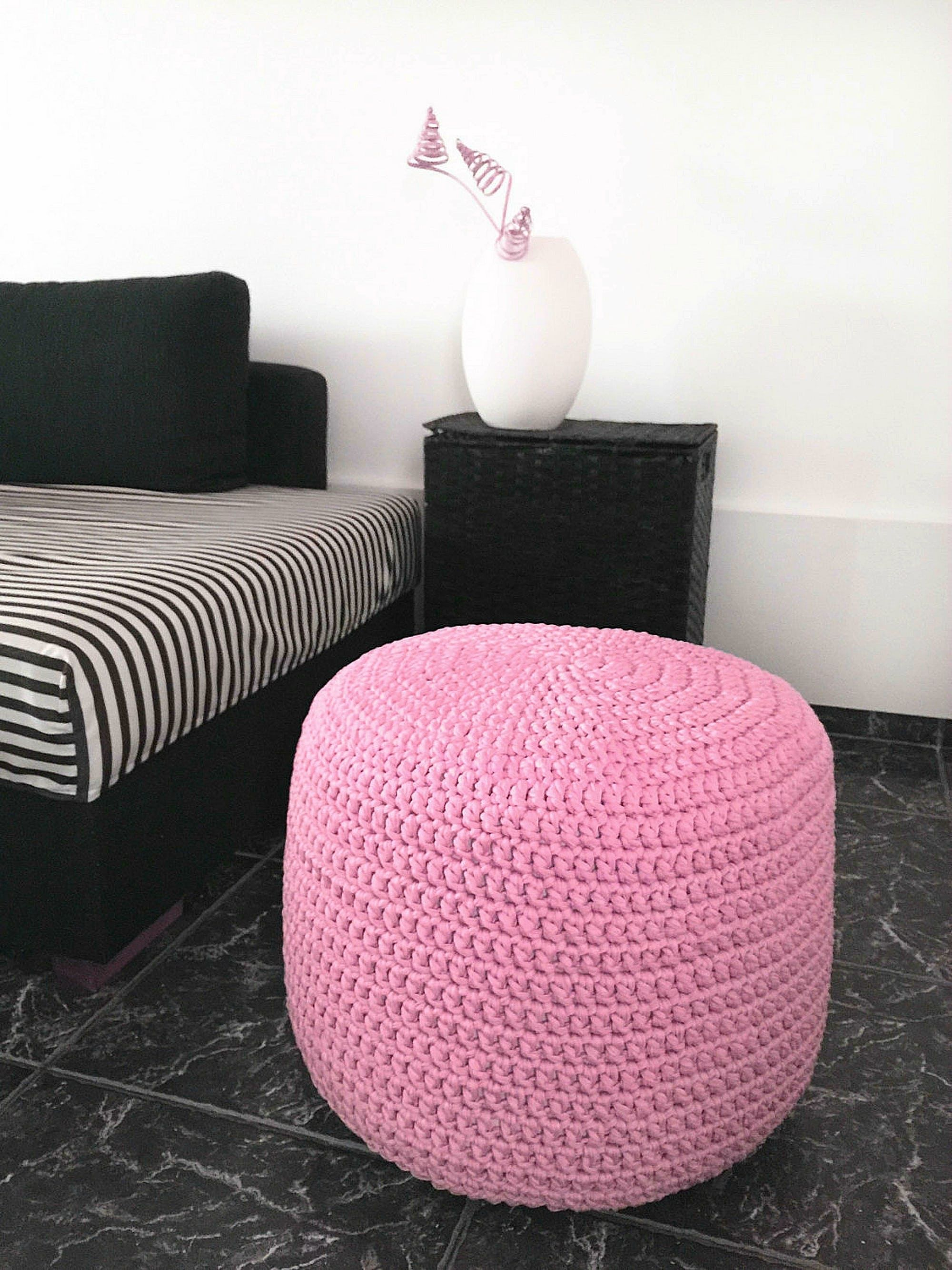 Light Baby Pink Ottoman Pouf - Nursery Foot Rest Pouf-Nursery ...