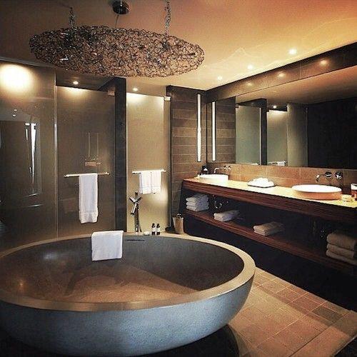 Luxury Modern Bathrooms: Room Decor, Furniture, Interior Design Idea, Neutral Room