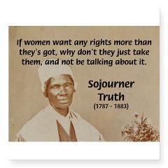 Sojourner Truth Quotes Entrancing Feminist Sojourner Truth Rectangle Decal  Truths Feminism And Woman