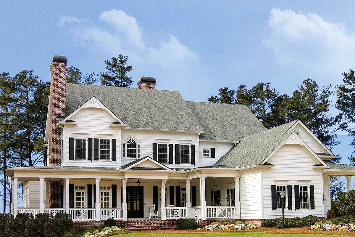 Plan 15754ge Luxurious Farmhouse Plan Farmhouse Plans Luxury