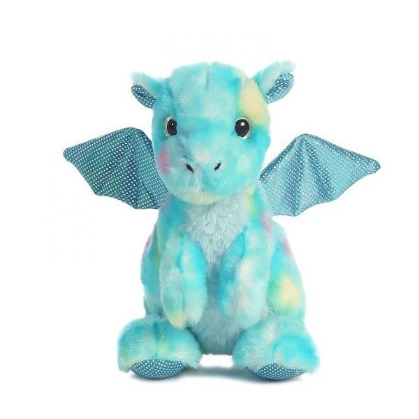 Aurora World Plush Little Dragon Popper The Blue Dragon 7 Inch