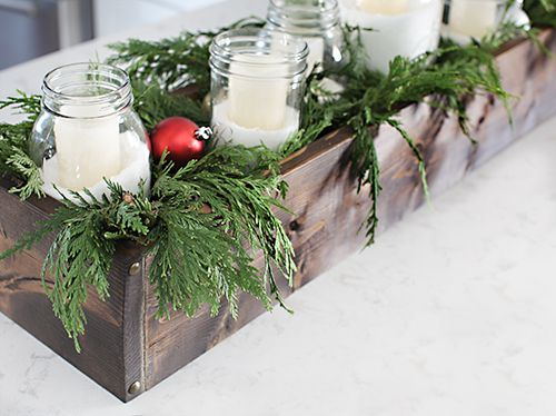 DIY Rustic Table Centerpiece {7thhouseontheleft}   I Love The Idea Of  Having An Interchangeable