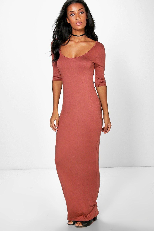 3/4 Sleeve Scoop Neck Maxi Dress | Dresses by Savanna Prouty | Pinterest