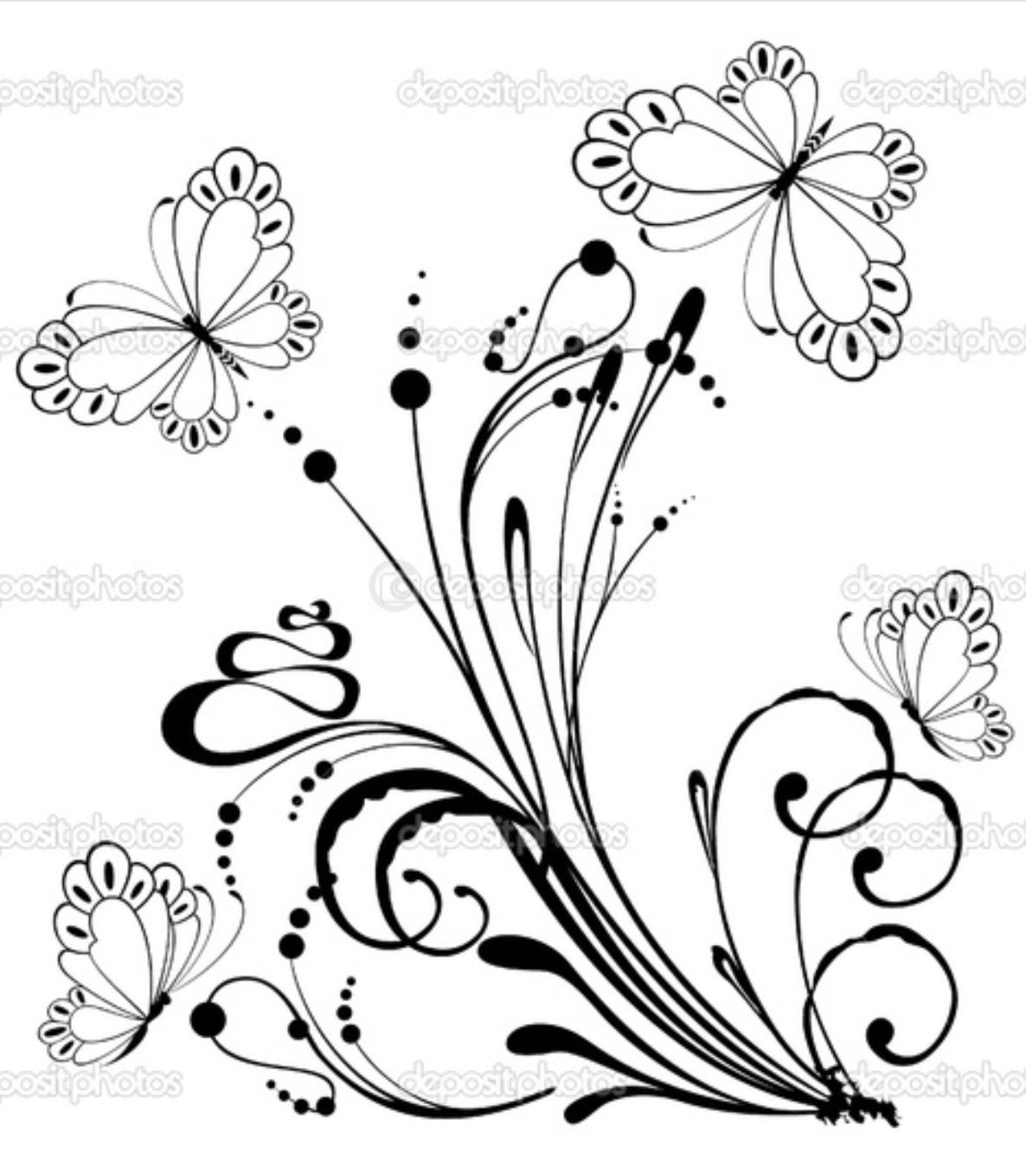 Cloth patterns   Рисунки цветов, Цветочные раскраски и ...