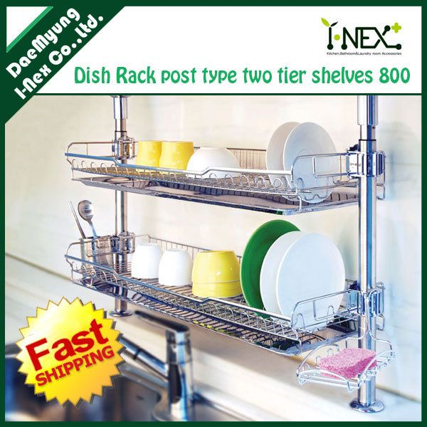 Over The Sink Wall Dish Drainer Small Spaces Home