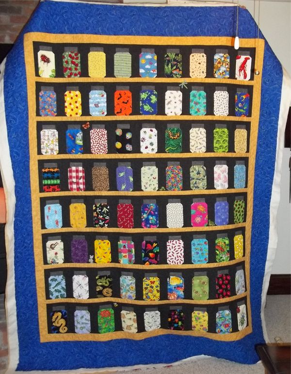 Bug jar quilt. Make for Nelsons | Things my sister should just do ... : bug quilt - Adamdwight.com