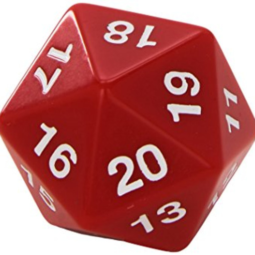 Simple D20 Dice Tattoo 20 Sided Dice Black Stickers