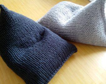 Chunky Wool Grey Knit Bean Bag / Kidsu0027 Bean Bag Chair от GieMarGa