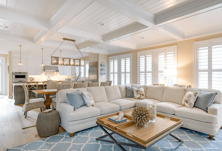 Discover 20 Beautiful Beach Inspired Living Rooms Coastal Living Rooms Open Concept Living Room Beach House Living Room