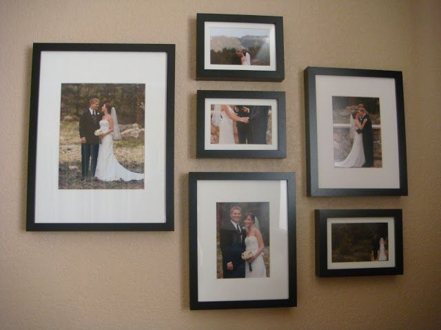 Wedding Gallery Arrangement Using Ikea Frames | Best of Magenta ...