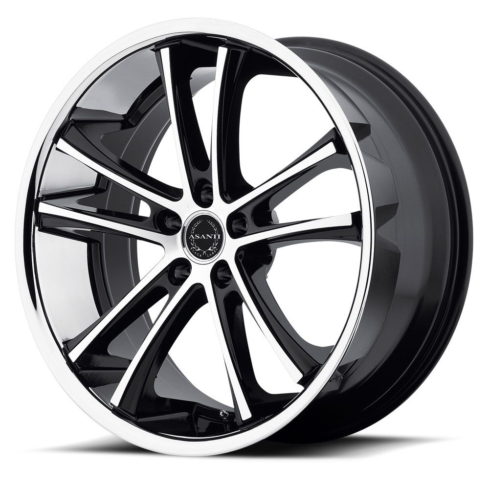 Asanti black label wheels abl 1 machined black with ss lip