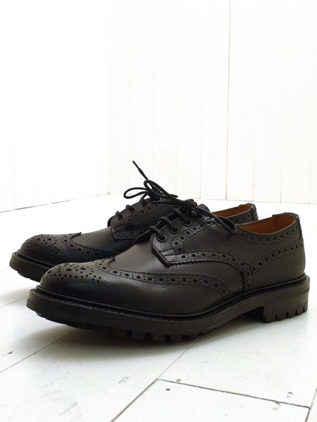 Ilkley Black Scotch Grain Leather Wingtip Brogues Trickers gk1wDnLEaU