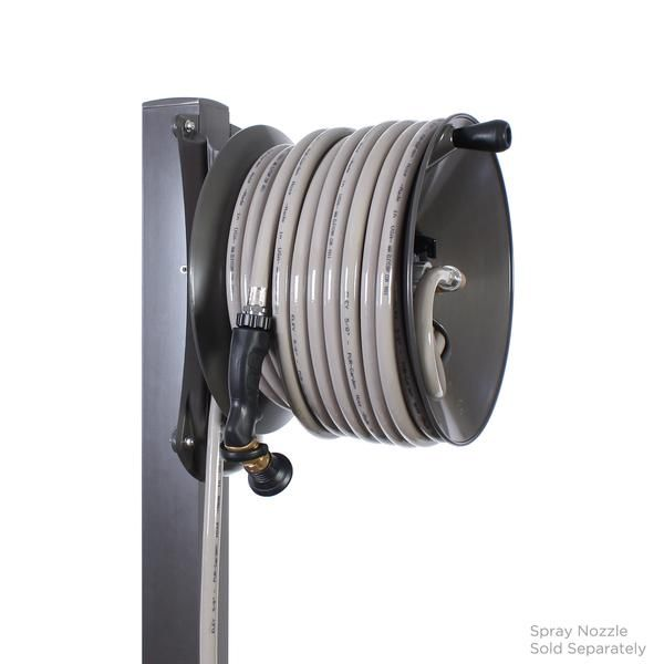 Aluminum Post Garden Hose Reel