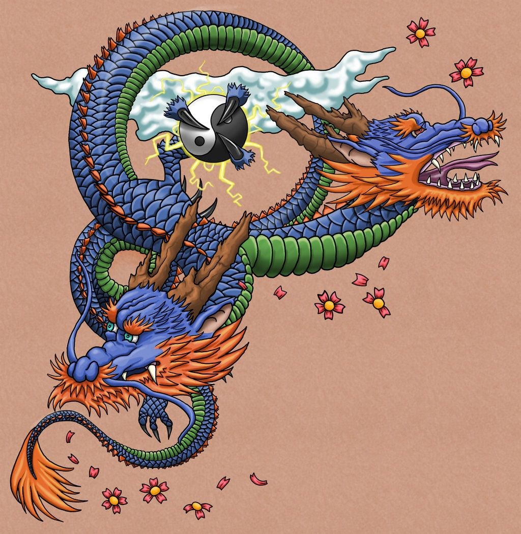 Two Headed Dragon Tattoo Japanese Dragon Tattoo Dragon Tattoo Japanese Dragon