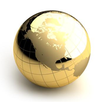 Gold Earth Photo Wallpaper Globe Gold Globe