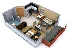diseños de interiores de casas pequeñas y economicas - Buscar con Google