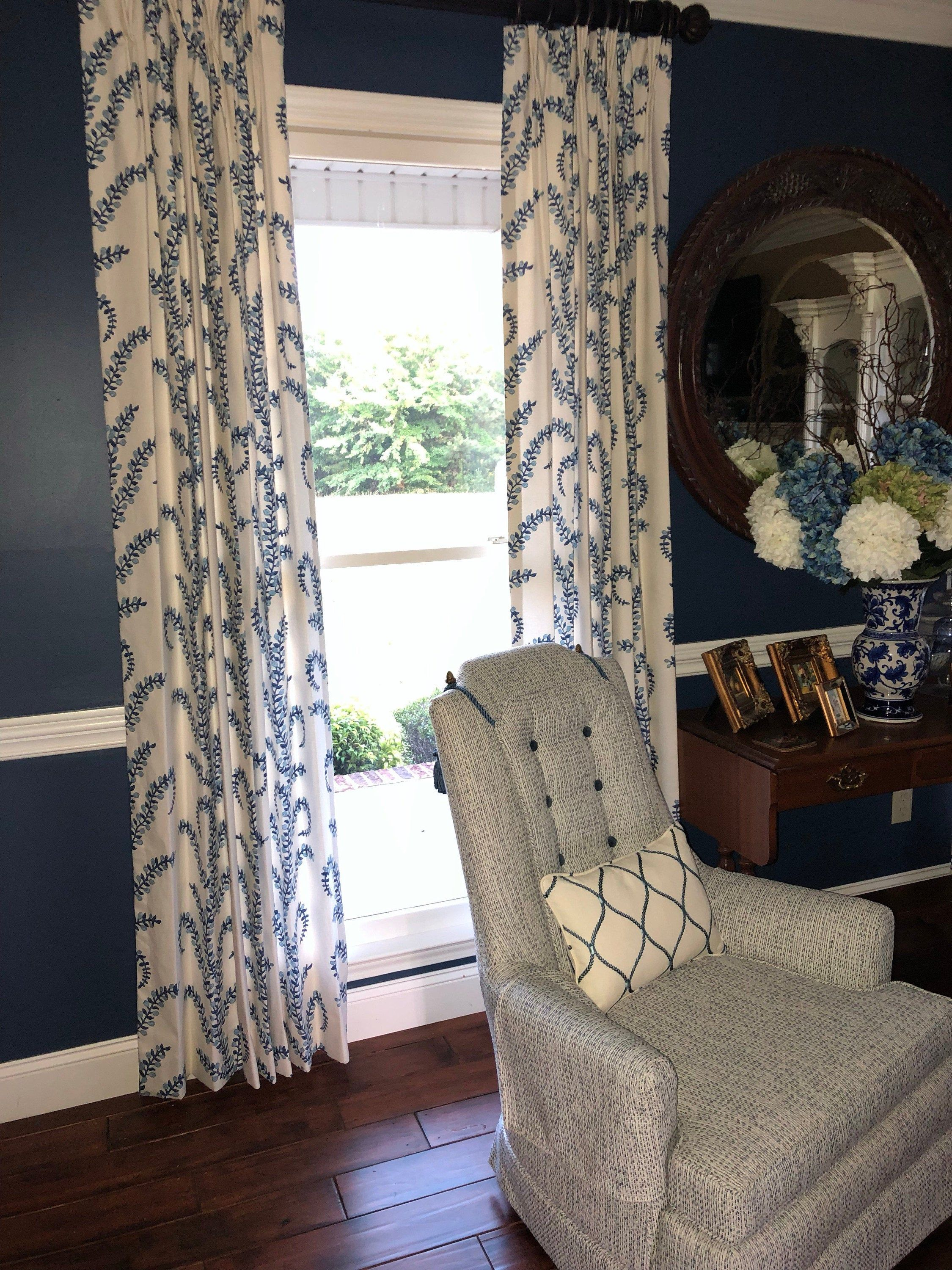 Prasana Bluebell Linen Lined Drapes Spa Resort Colors Window Panels Drapes Fully Lined Lined Draperies Custom Made Curtains Panel Custom Made Curtains Panel Curtains Pinch Pleat Curtains