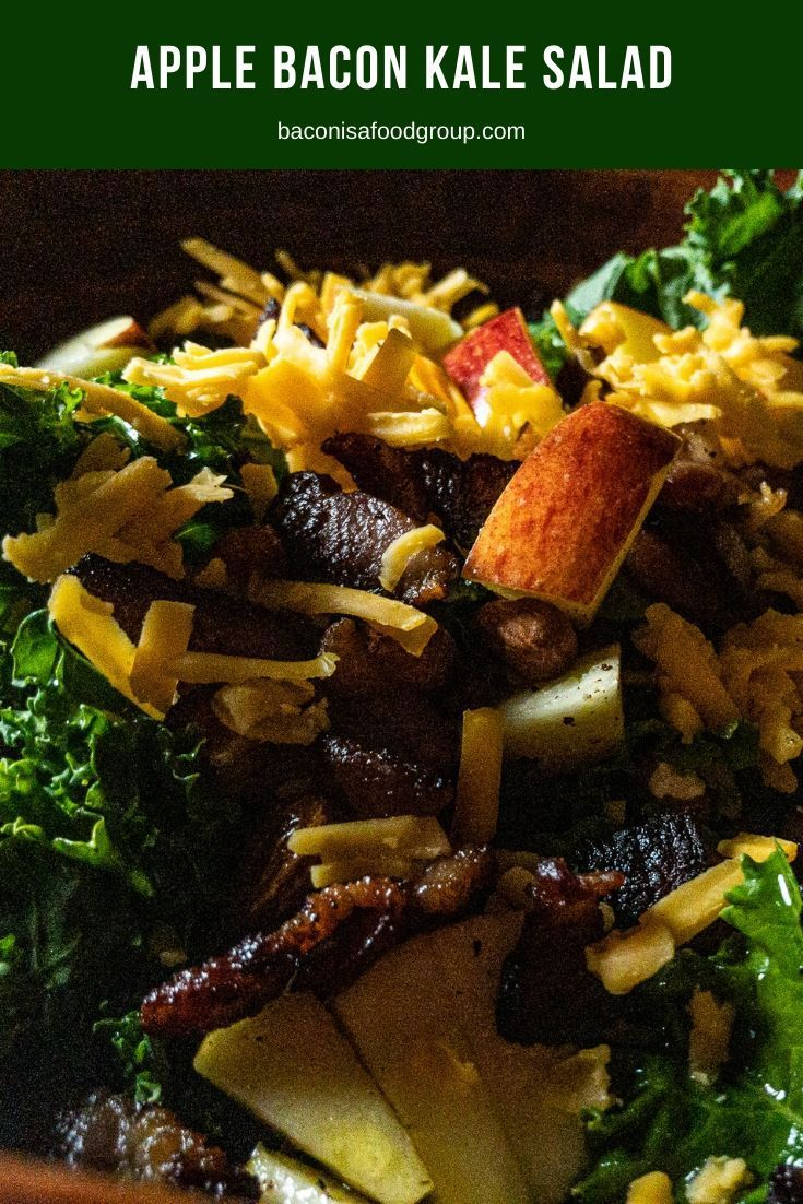 Apple Bacon Kale Salad This easy, filling, hearty kale salad is tossed with fresh apple, crisp baco