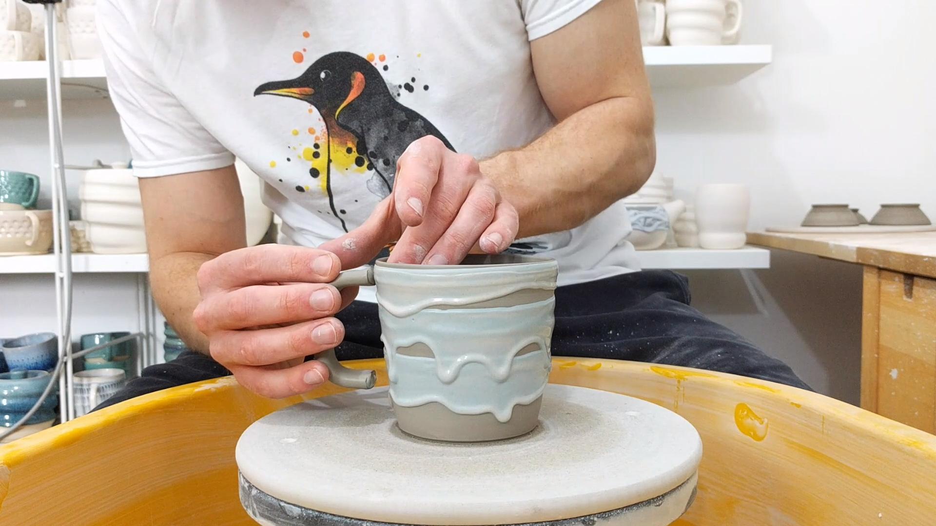 Drippy Slippy Mug #keramikprojekte