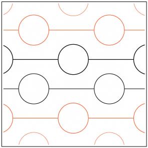 Geometry #2 digital quilting pattern design pantograph