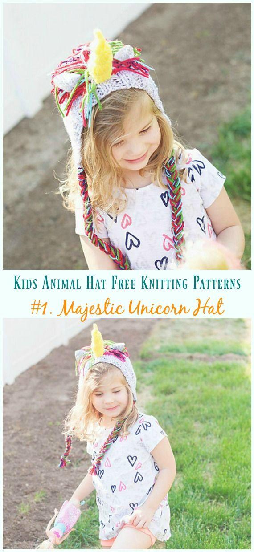 Unicorn Hat Knitting Free Patterns - Kids Animal Hat Free ...