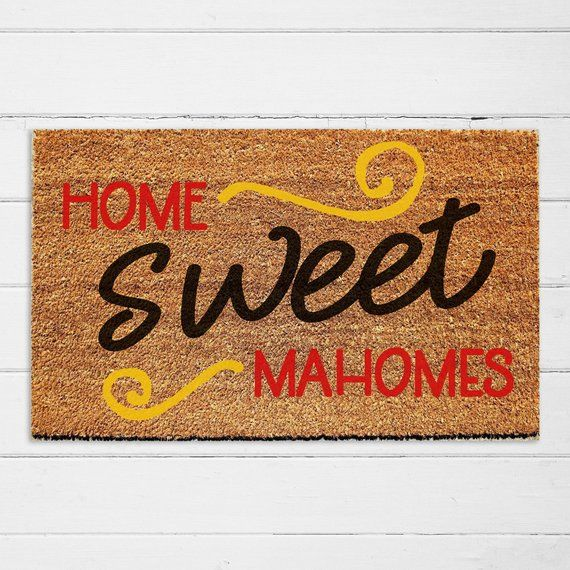 Home Sweet Mahomes Chiefs Football Doormat | Gift for Him | Patrick