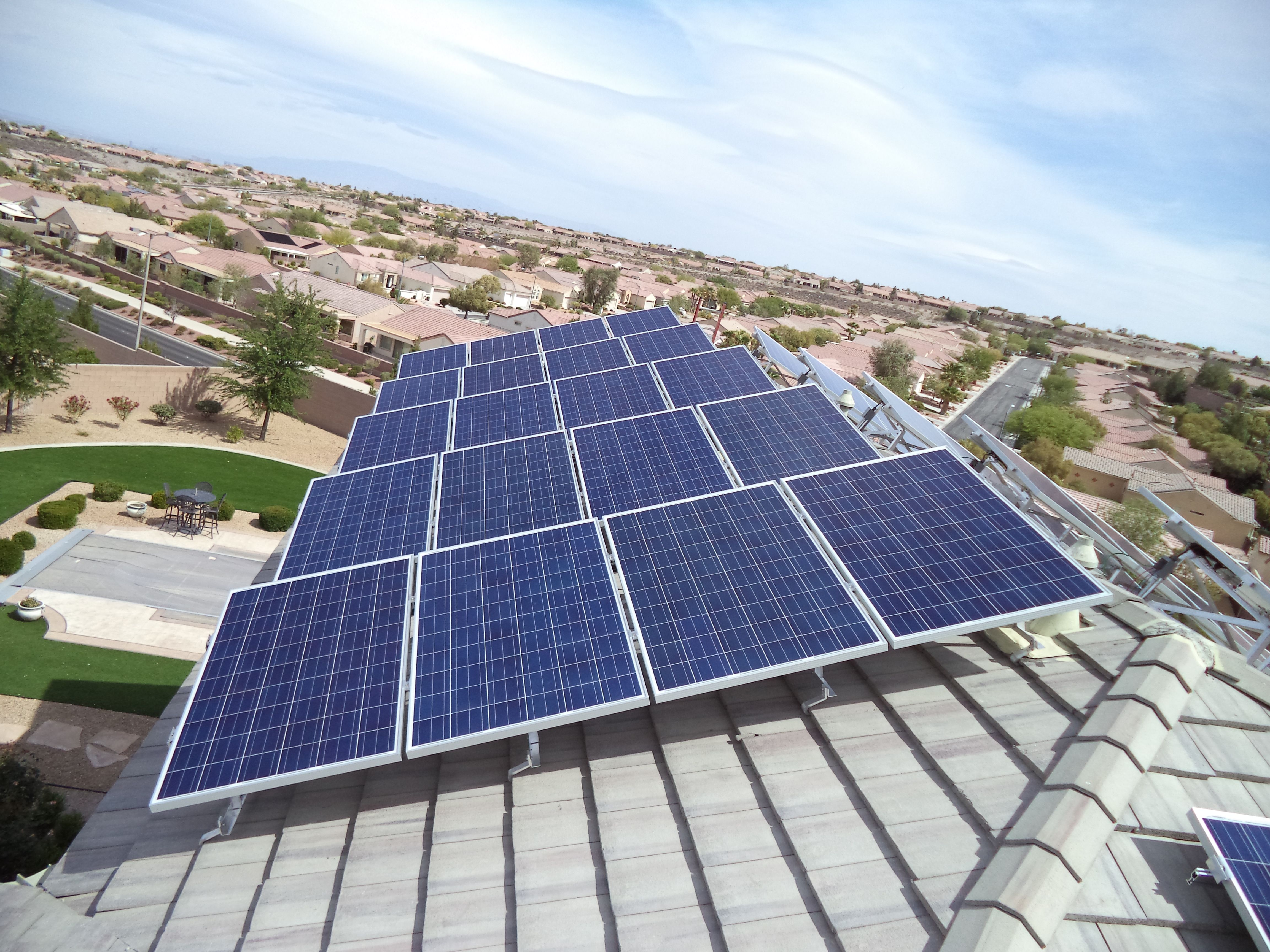 Custom Elevated Mounting System For A East West Roof Solar Solar Panels For Home Solar Panels